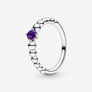 🔥PANDORA Clear Heart Beaded Ring